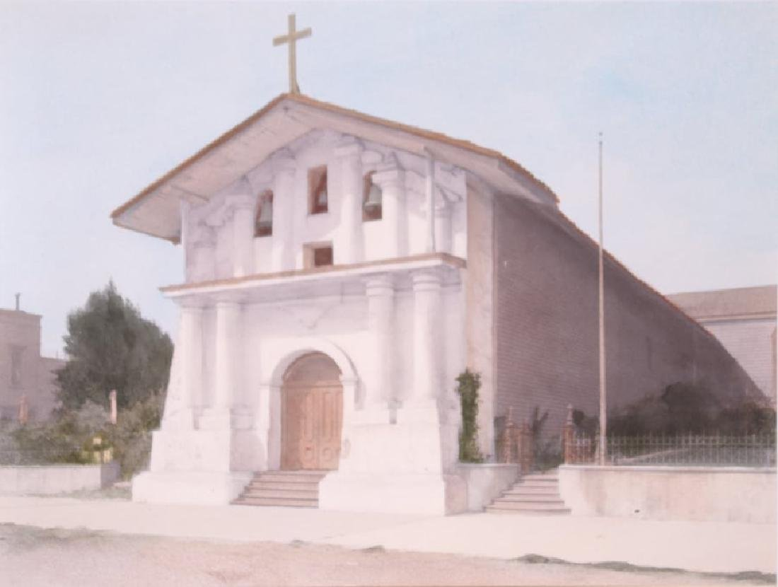 Harold A. Parker Hand-Tinted Photo SF Mission Dolores