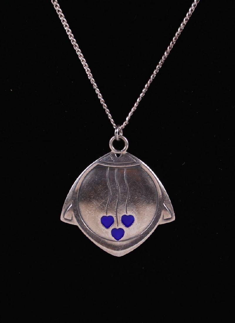 Jugendstil German Arts & Crafts Silver Pendant Necklace