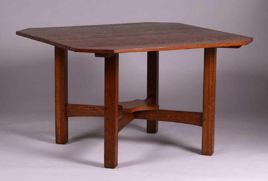 "Rare L&JG Stickley 48"" Square Clip-Corner Dining Table"