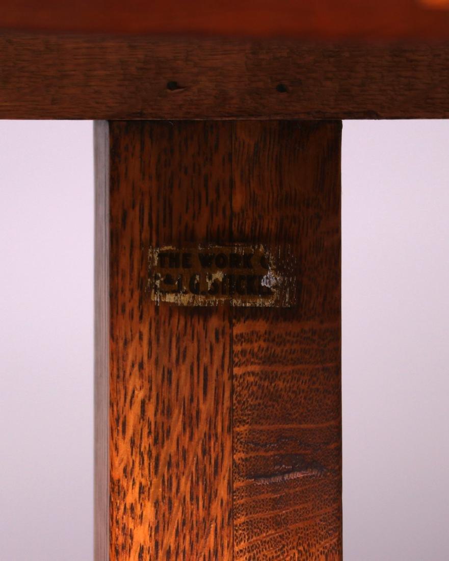 "Rare L&JG Stickley 48"" Square Clip-Corner Dining Table - 3"