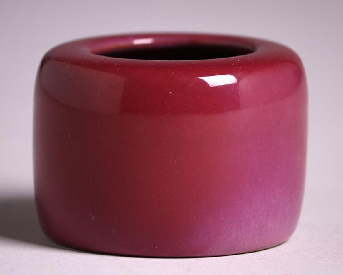 California Faience Small Burgundy Vase