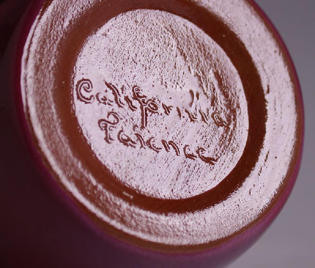 California Faience Small Burgundy Vase - 2