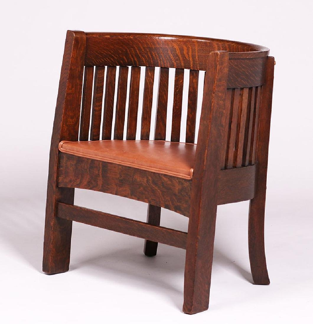 Plail Brothers Barrel-Back Armchair c1910 - 2