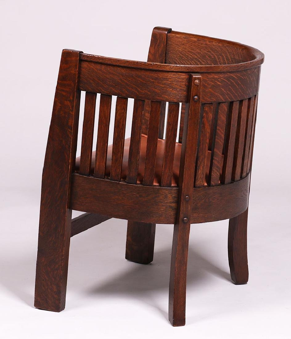 Plail Brothers Barrel-Back Armchair c1910 - 3