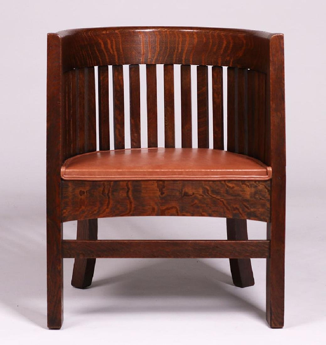 Plail Brothers Barrel-Back Armchair c1910 - 4