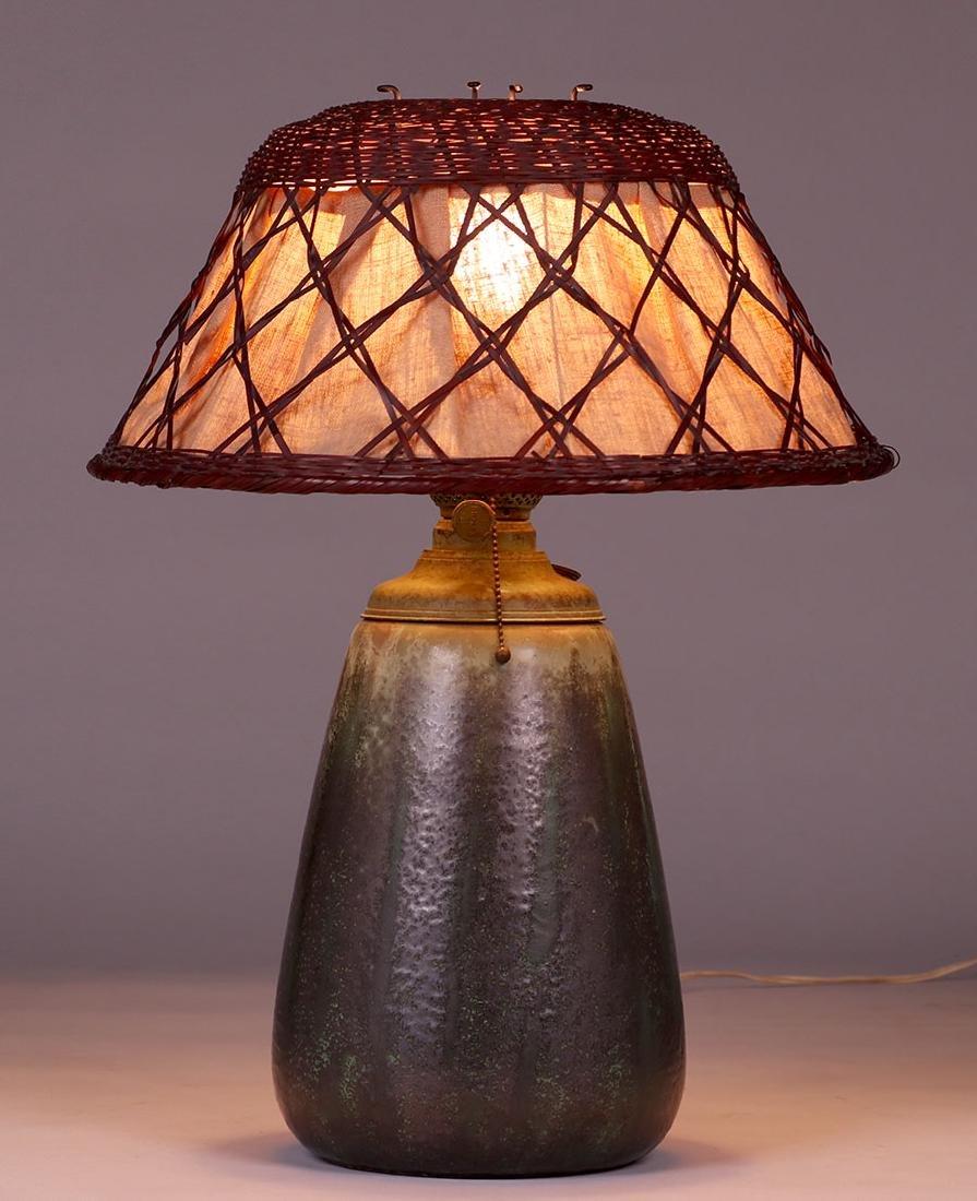 Fulper Pottery Lamp c1910