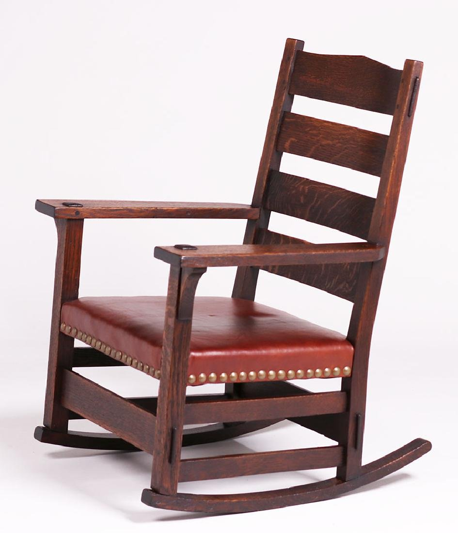 Early Gustav Stickley #2631 Rocker c1902 - 2