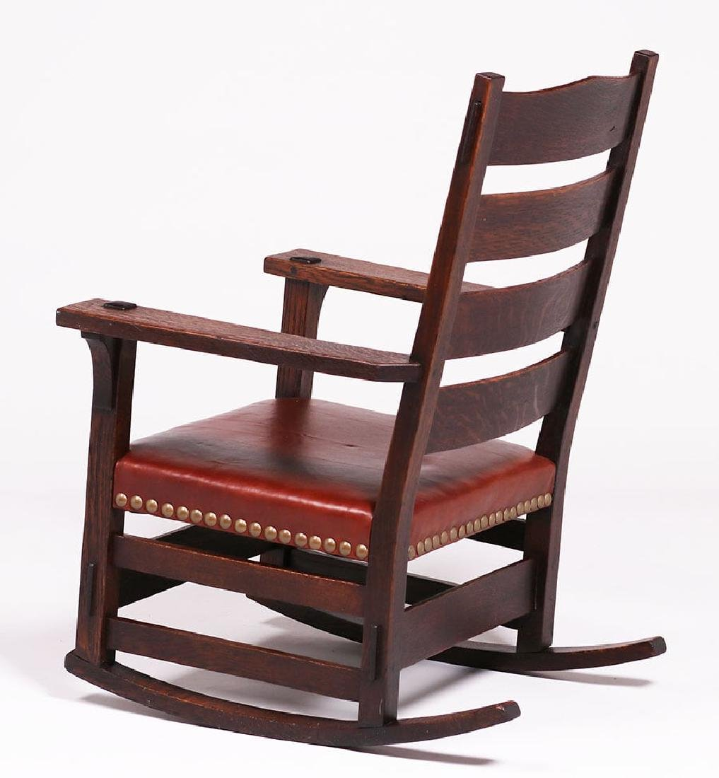 Early Gustav Stickley #2631 Rocker c1902 - 3