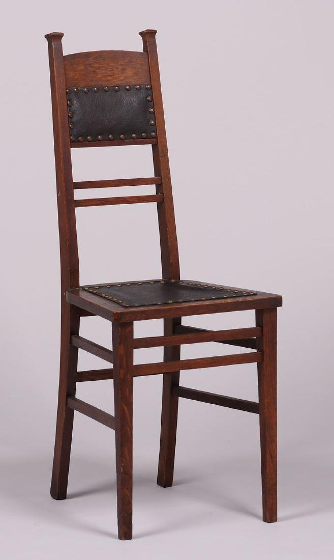 Arts & Crafts Narrow Desk Chair c1905