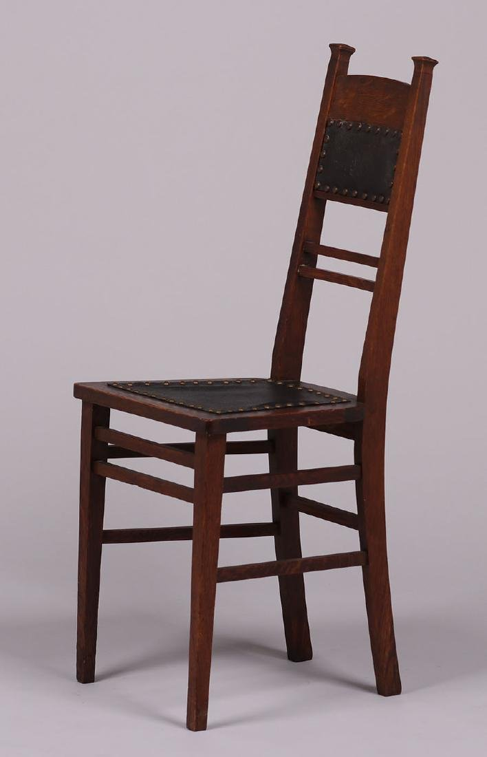 Arts & Crafts Narrow Desk Chair c1905 - 2