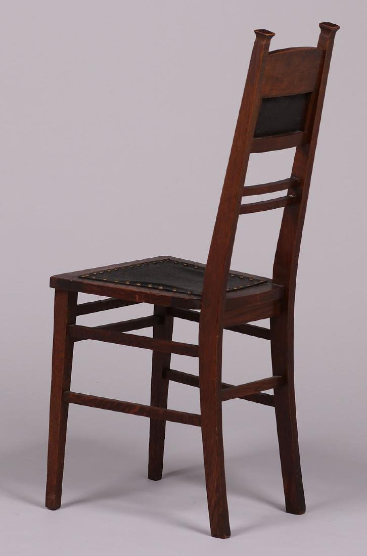 Arts & Crafts Narrow Desk Chair c1905 - 3