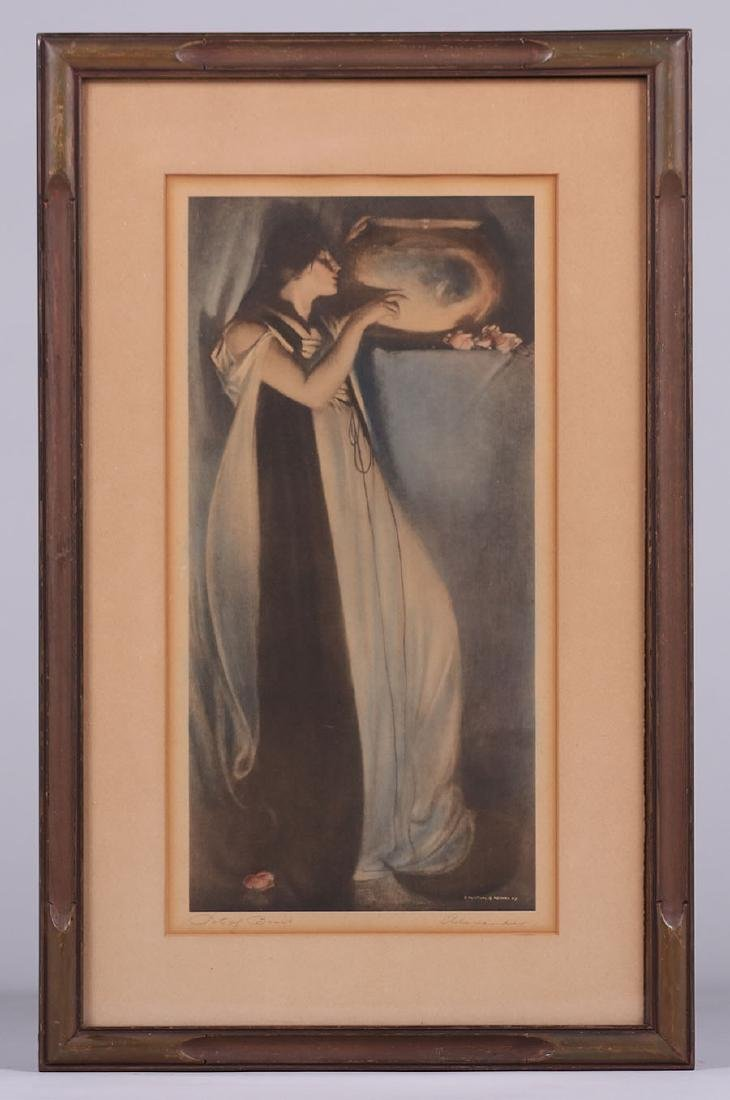 "John White Alexander Lithograph ""Pot of Basil"" c1910 - 2"