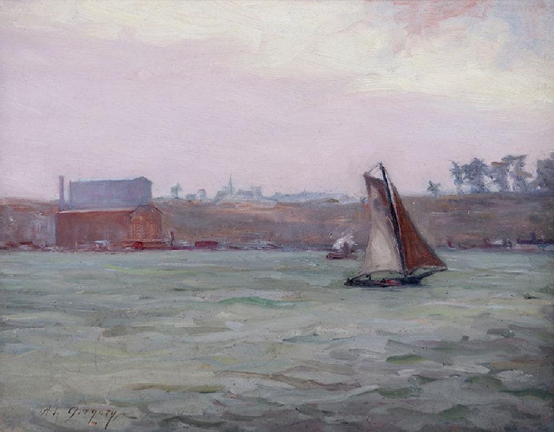 Anne Van Briggle Oil Painting c1890