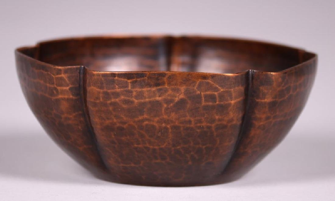 Early Unsigned Dirk van Erp Five-Sided Bowl c1909-1910