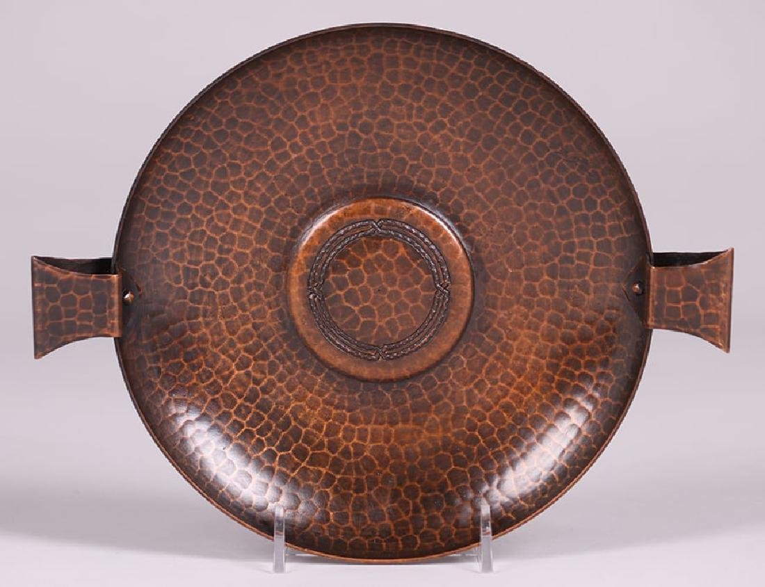 Roycroft Hammered Copper Two-Handled Tray