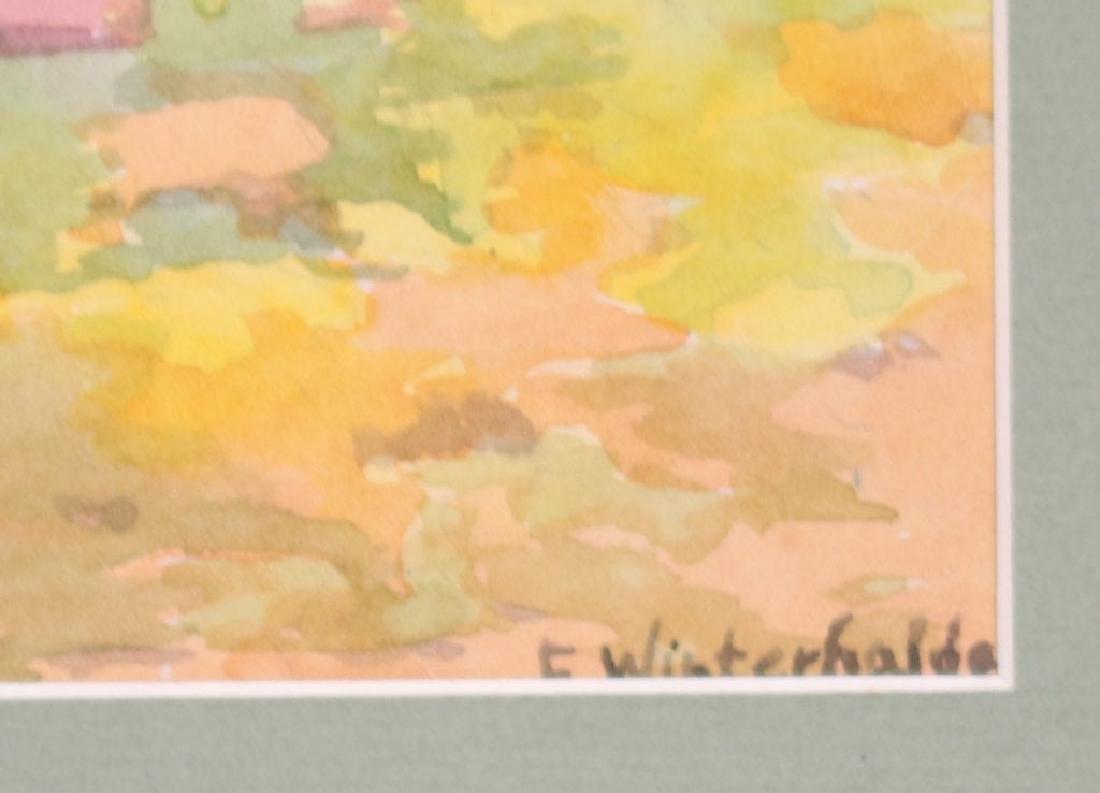 Erwin Winterhalder Watercolor Redwood Trees - 3