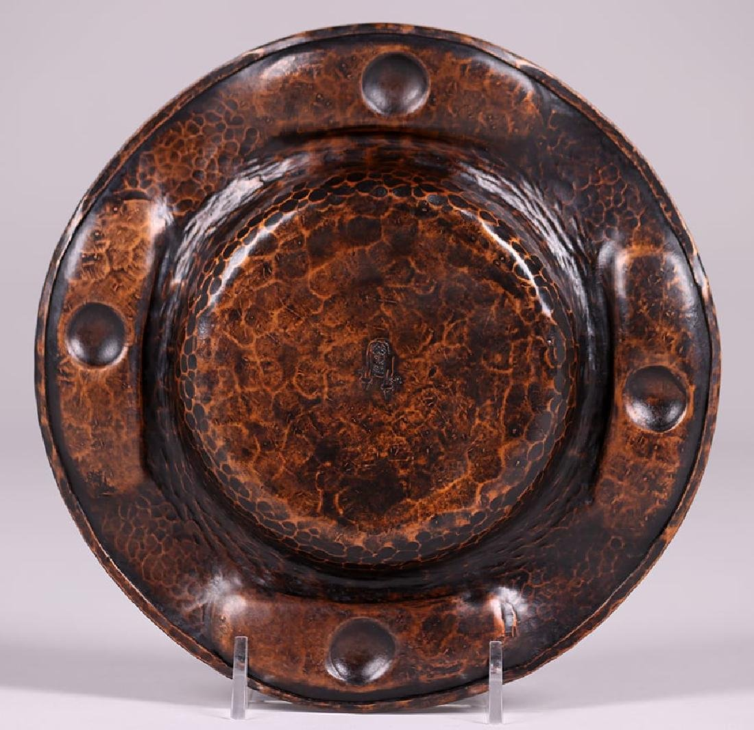 Gustav Stickley Hammered Copper Round Tray - 2