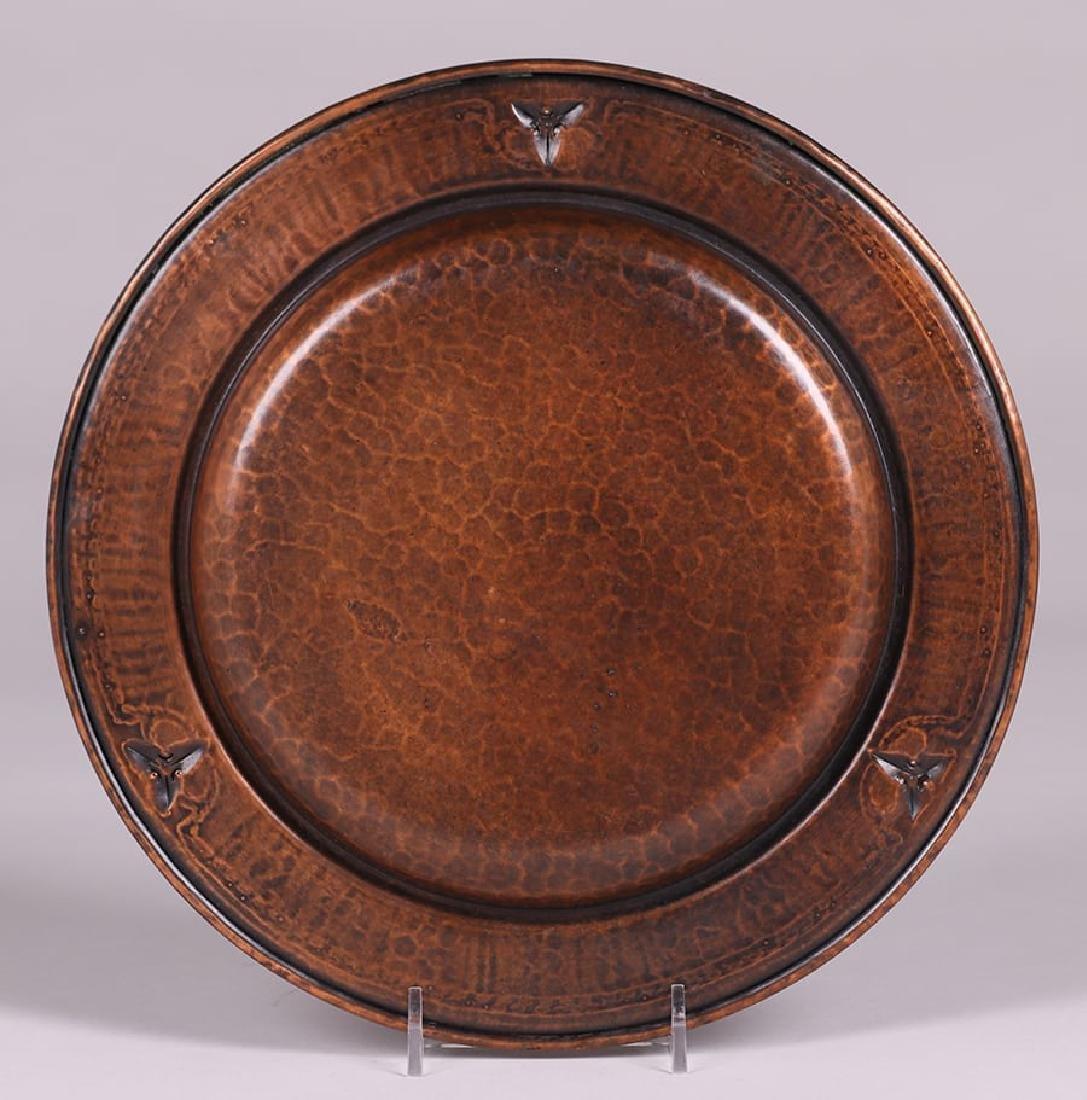 Roycroft Hammered Copper Tray - 2