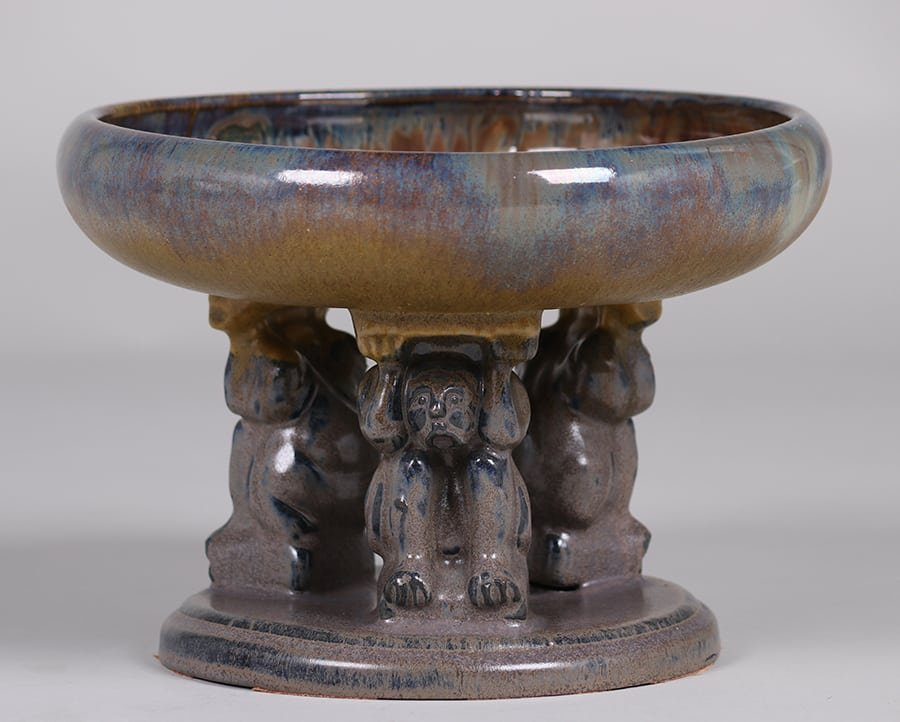 Fulper Pottery Effigy Bowl c1910s