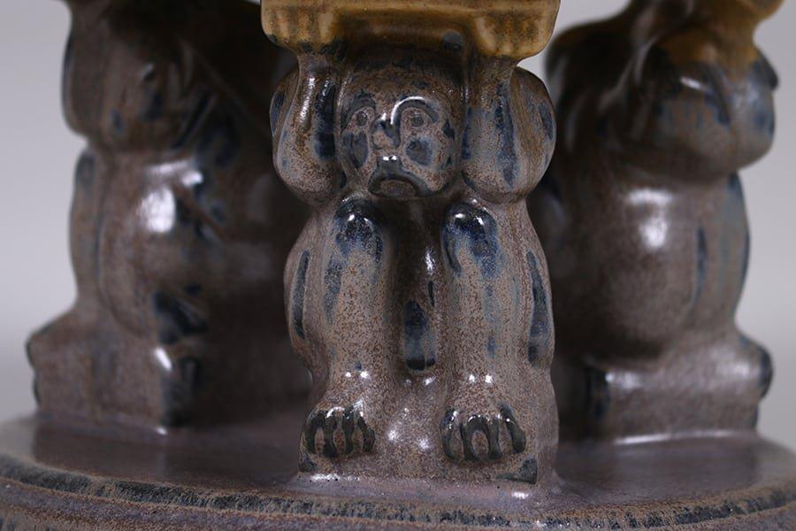 Fulper Pottery Effigy Bowl c1910s - 3
