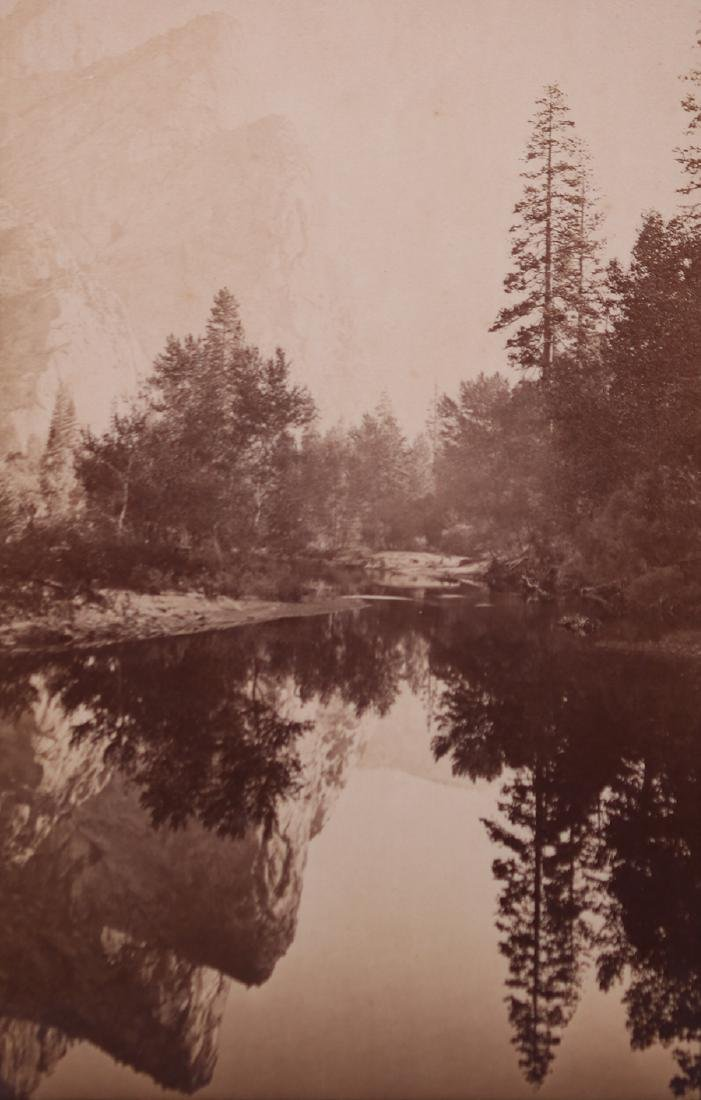 Antique Sepia Tone Photo Yosemite Mirror Lake c1900