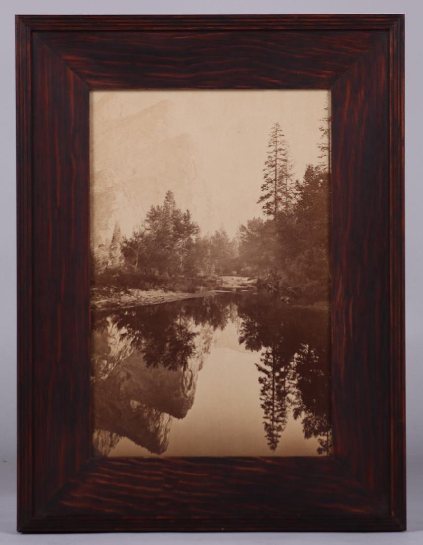 Antique Sepia Tone Photo Yosemite Mirror Lake c1900 - 2
