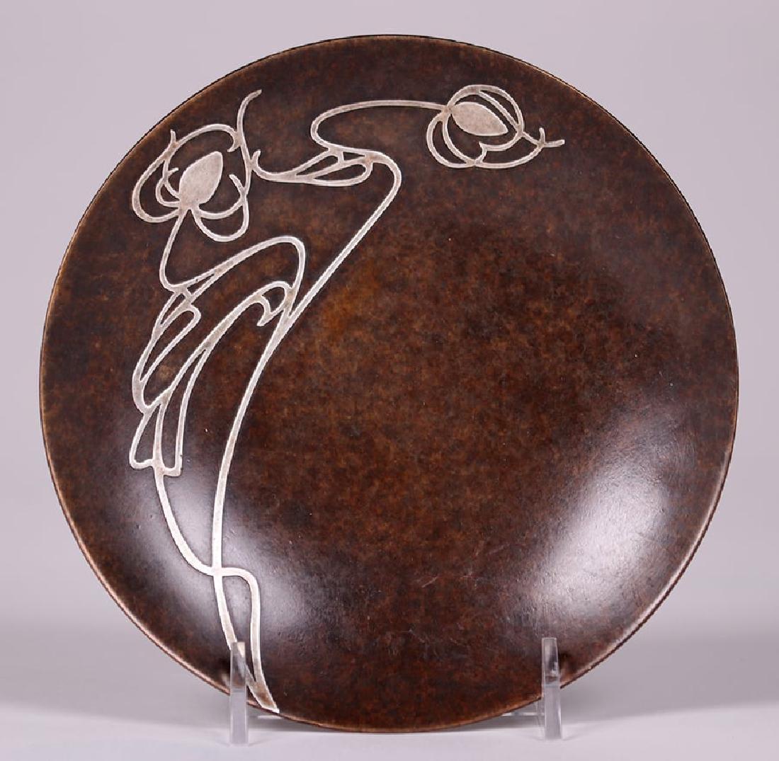Heintz Sterling on Bronze Art Nouveau Card Tray