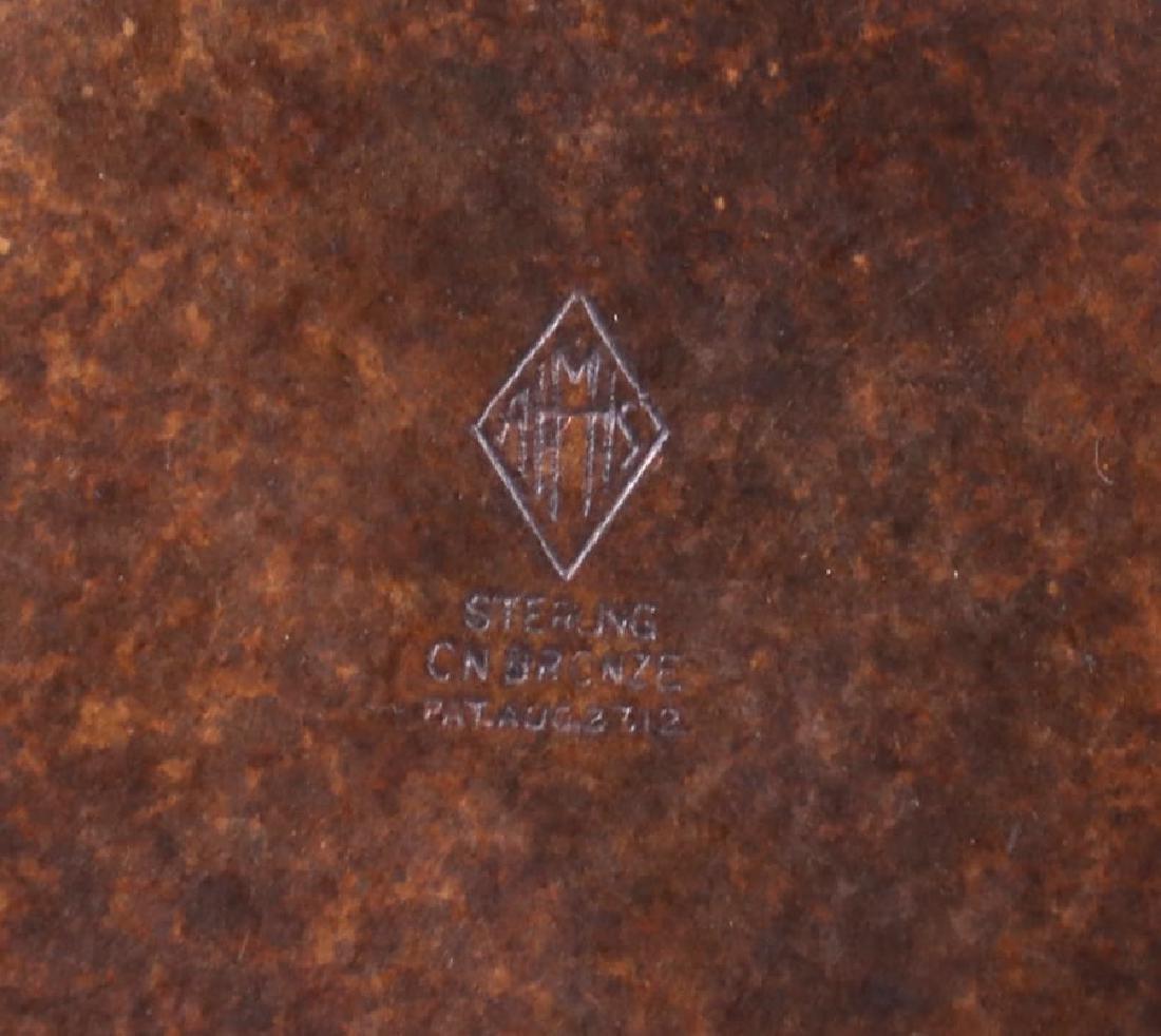 Heintz Sterling on Bronze Art Nouveau Card Tray - 2