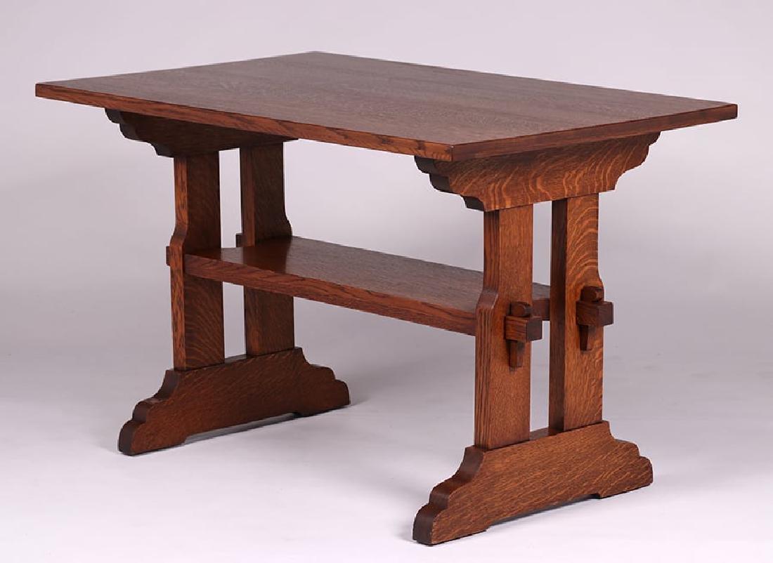 Grand Rapids Trestle Table c1910