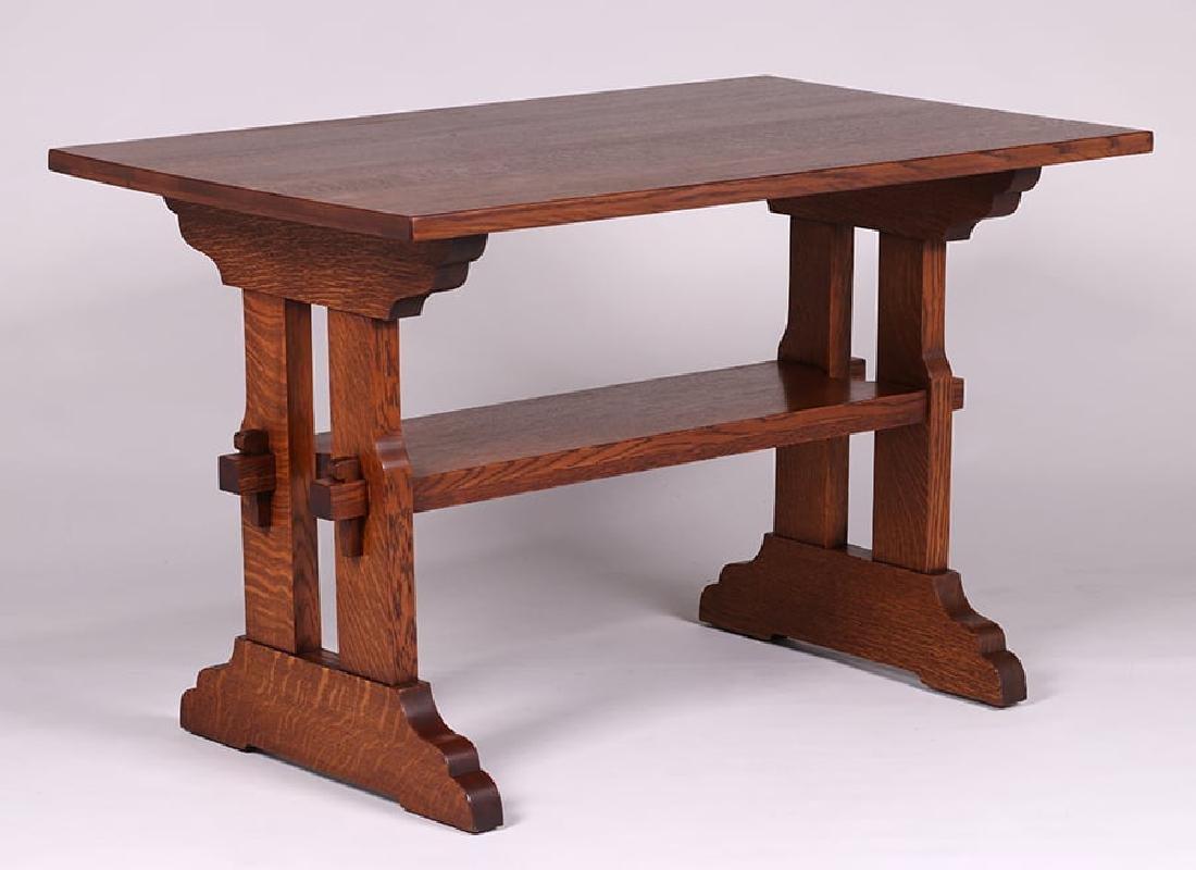 Grand Rapids Trestle Table c1910 - 2