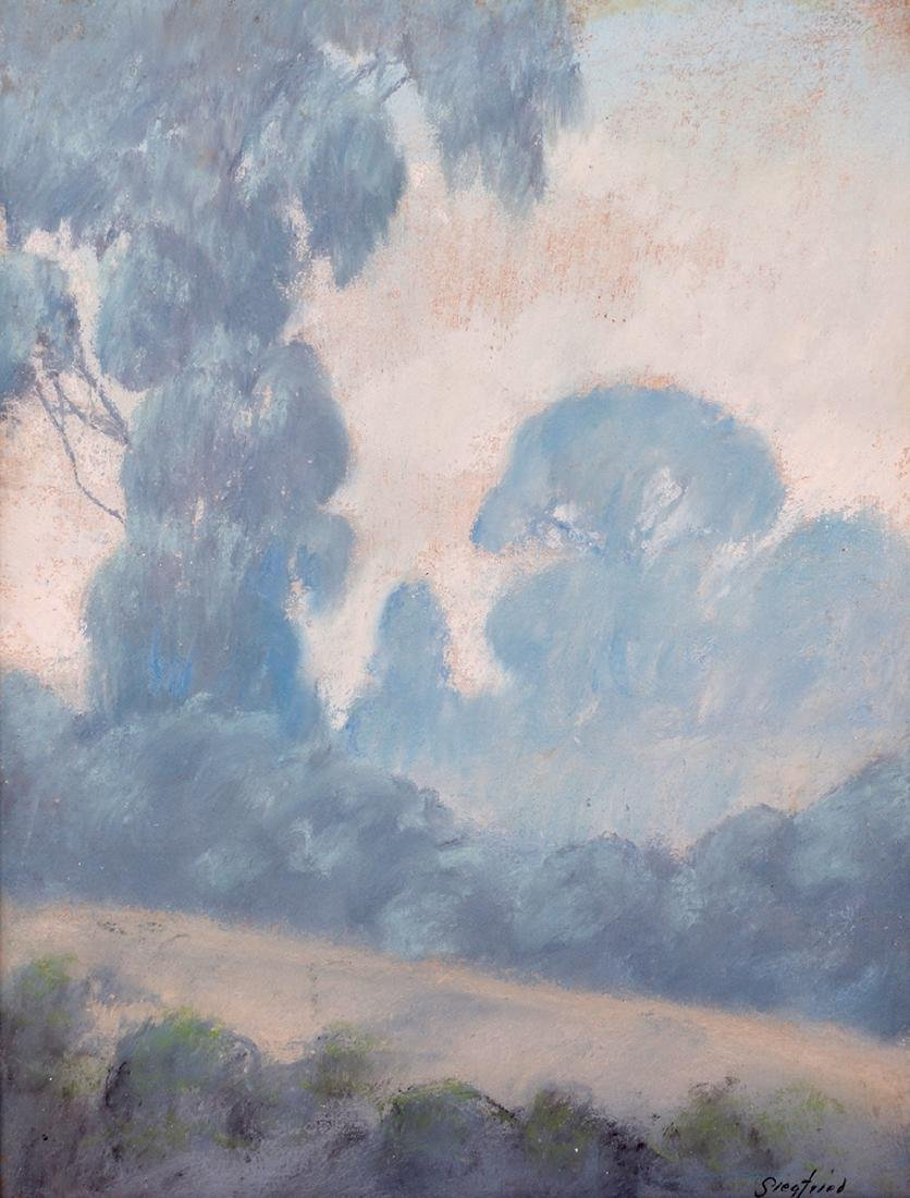 Edwin Siegfried Pastel California Eucalyptus Trees