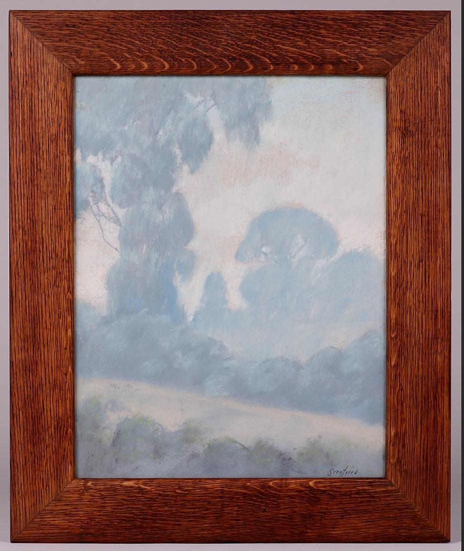 Edwin Siegfried Pastel California Eucalyptus Trees - 2
