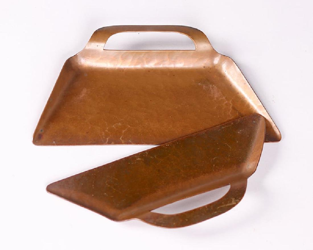 The Copper Shop - Oakland Hammered Copper Crumber Set - 2