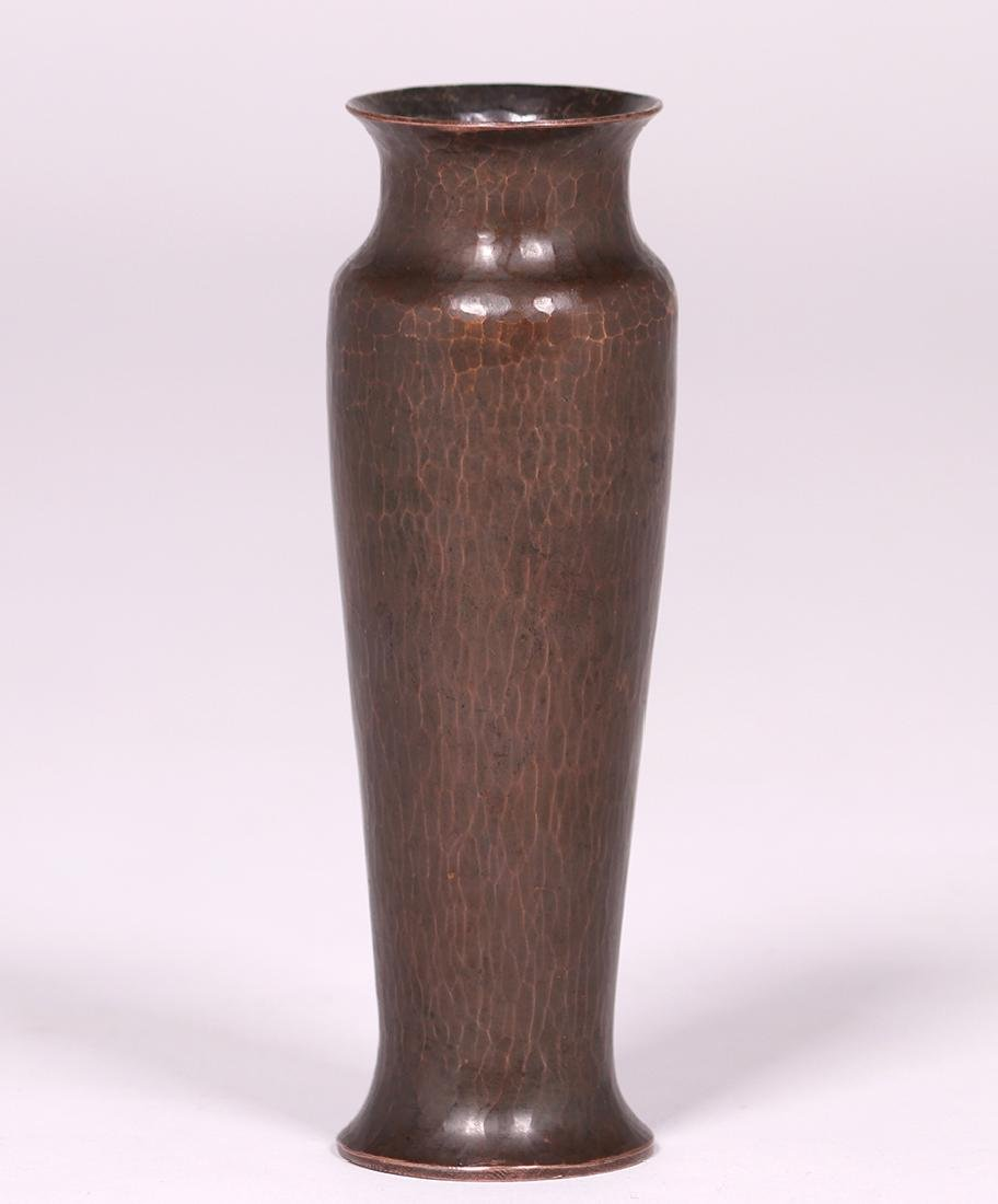 """Dirk van Erp Hammered Copper 7"""" Vase c1915-1920"""