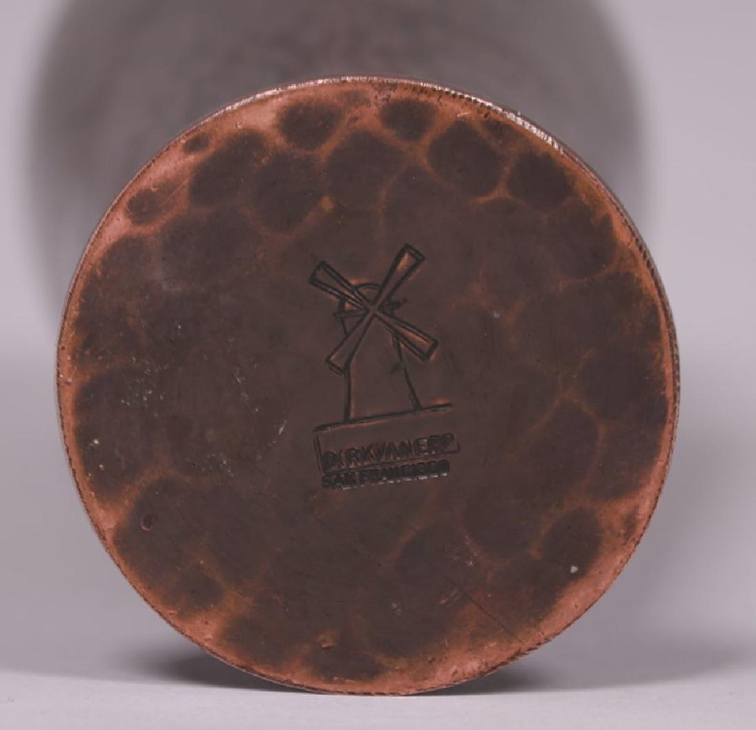"""Dirk van Erp Hammered Copper 7"""" Vase c1915-1920 - 3"""