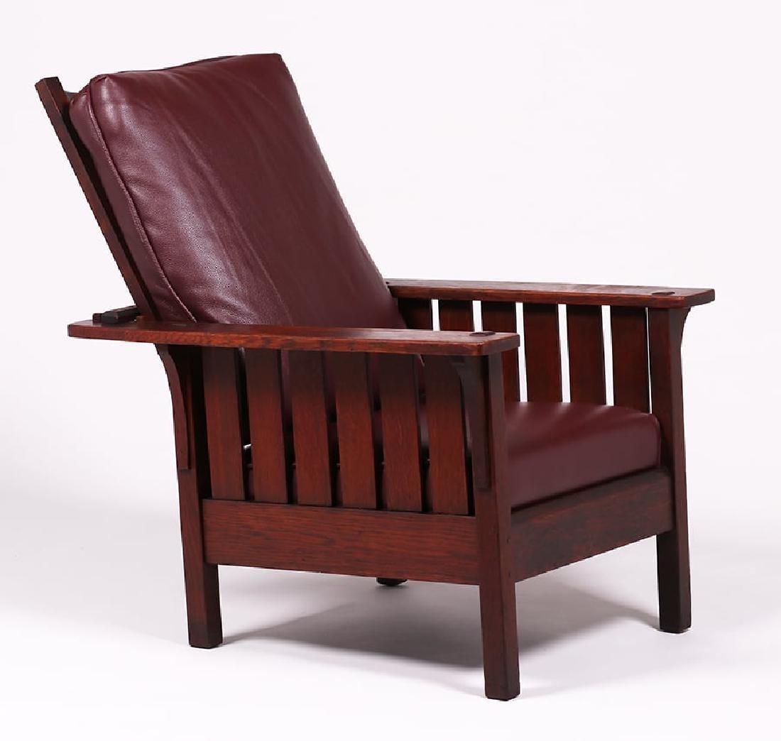 L&JG Stickley #471 Slatted Morris Chair