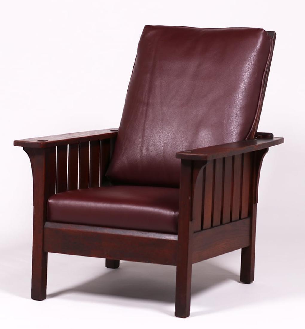 L&JG Stickley #471 Slatted Morris Chair - 2