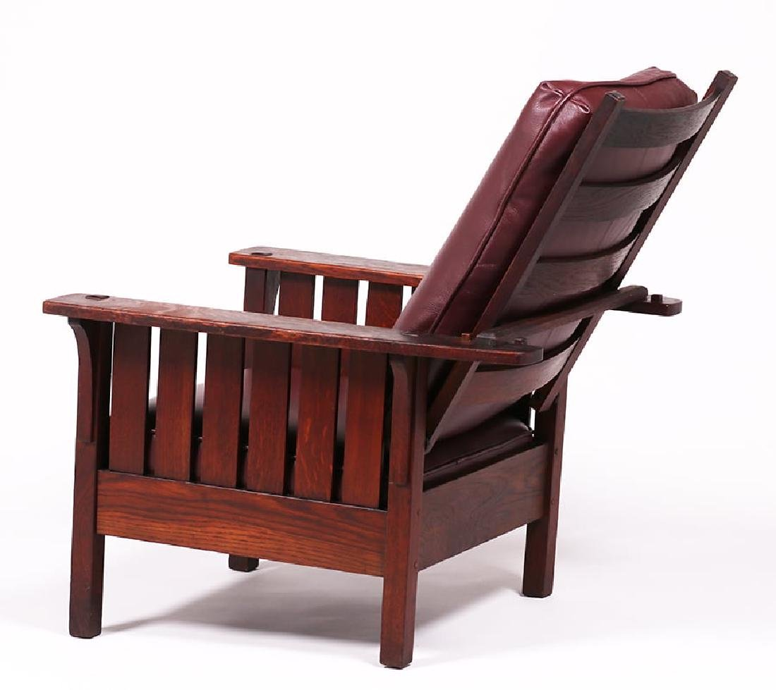 L&JG Stickley #471 Slatted Morris Chair - 3