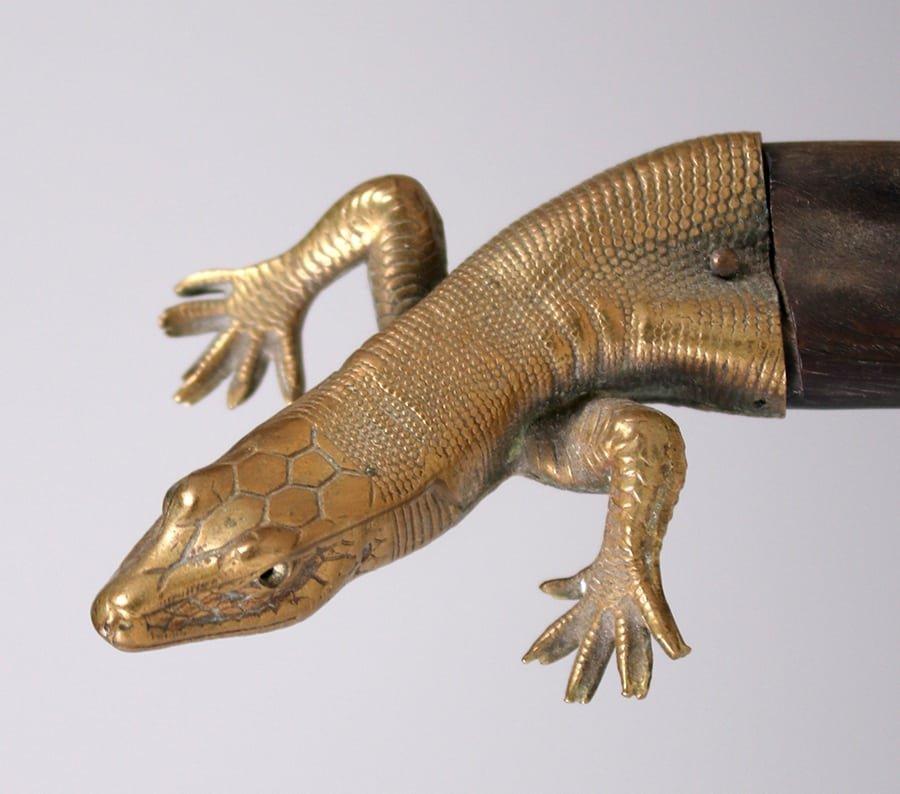 Arts & Crafts Era Salamander Letter Opener c1910-1920