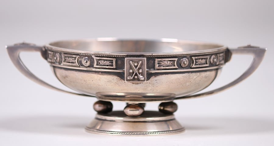 Chicago Sterling Silver Enamel Bowl c1910 - 3