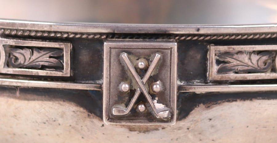 Chicago Sterling Silver Enamel Bowl c1910 - 4