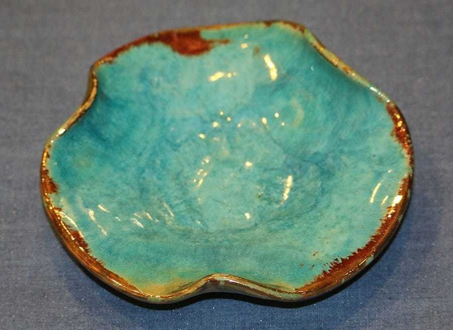 Pewabic Pottery Floral Form Tray - 3