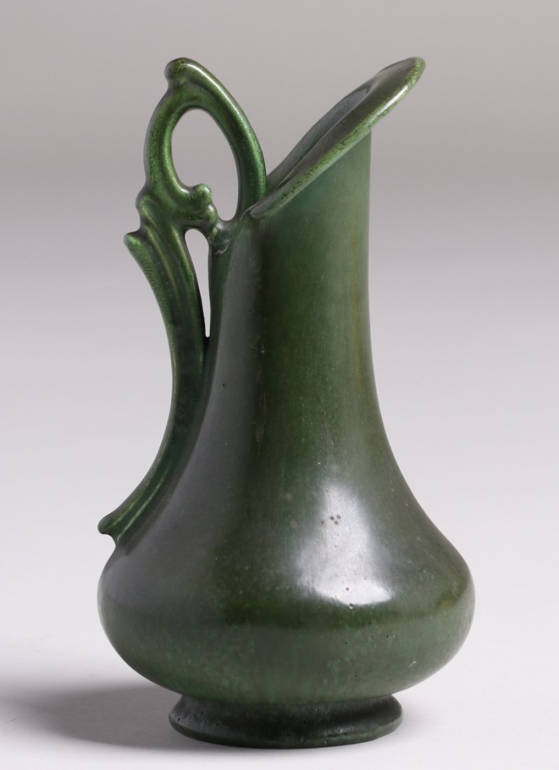 Hampshire Pottery Matte Green Pitcher