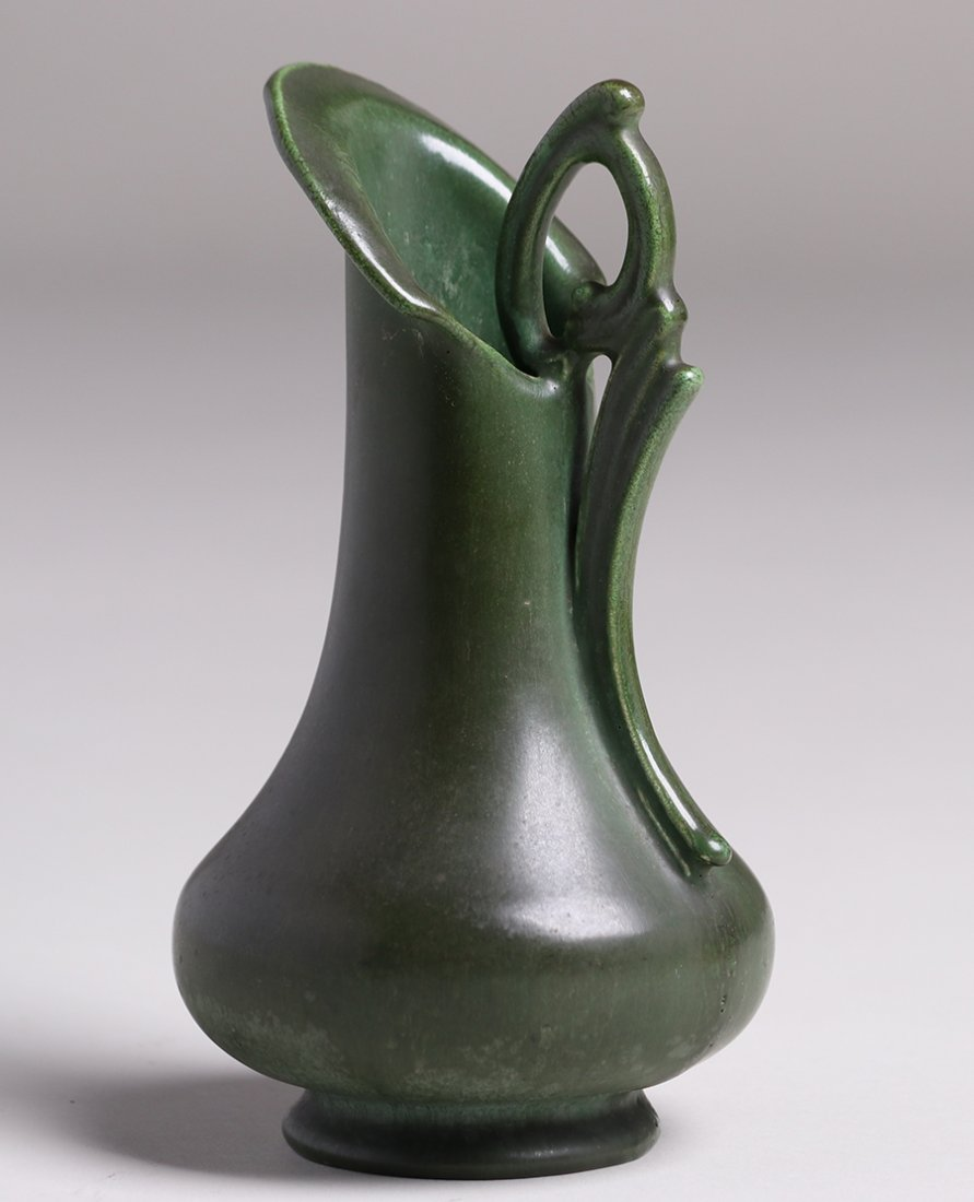 Hampshire Pottery Matte Green Pitcher - 2