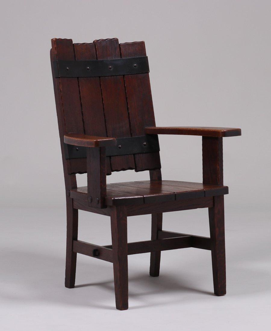 Michigan Chair Co Adirondack Camp Armchair c1920