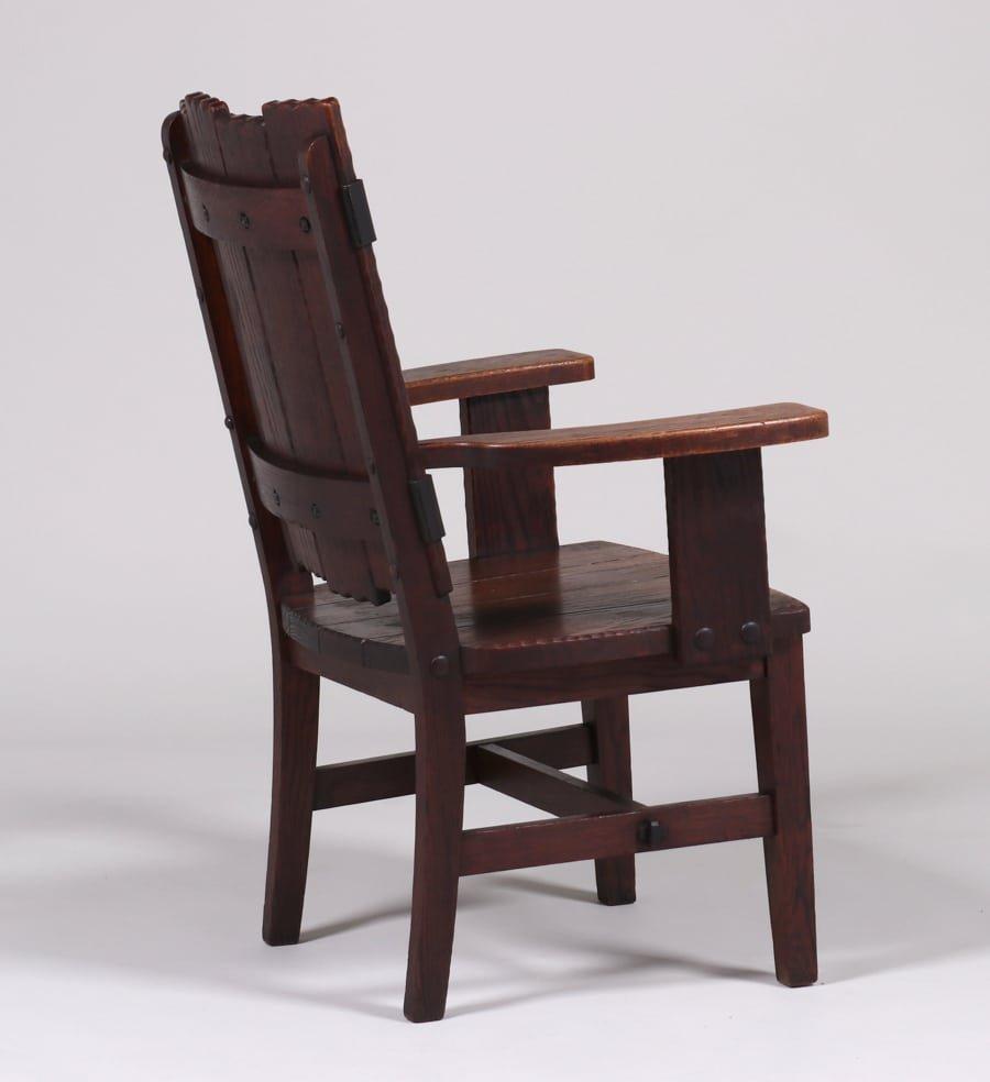 Michigan Chair Co Adirondack Camp Armchair c1920 - 2