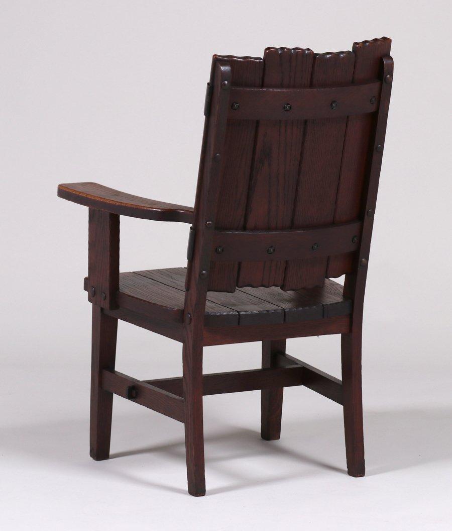 Michigan Chair Co Adirondack Camp Armchair c1920 - 3