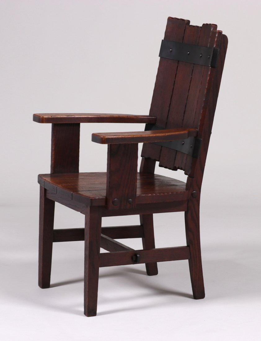 Michigan Chair Co Adirondack Camp Armchair c1920 - 4