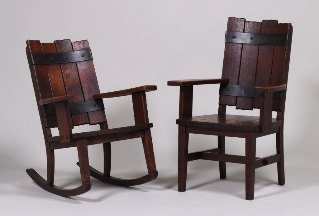 Michigan Chair Co Adirondack Camp Armchair c1920 - 5