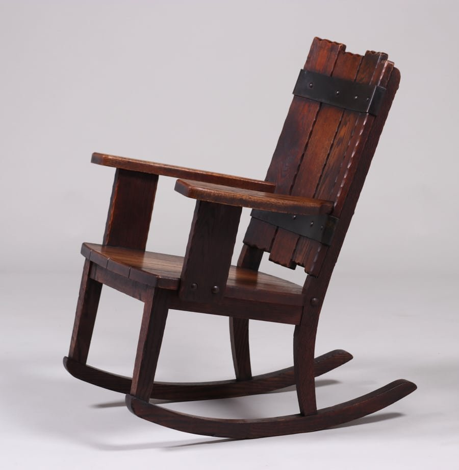 Michigan Chair Co Adirondack Camp Rocker c1920 - 2